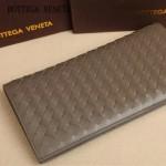 BV 8933-2 時尚商務男士灰色編織牛皮長款兩折西裝夾