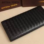 BV 8933-3 時尚商務男士黑色編織牛皮長款兩折西裝夾