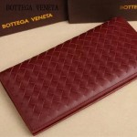 BV 8933 時尚商務男士酒紅色編織牛皮長款兩折西裝夾