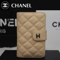 CHANEL A48667-03 歐美時尚新款原版球皮杏色女士錢包