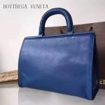 BV 323955 時尚商務女士藍色原版小牛皮手提公文包