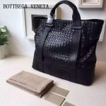 BV 374391 時尚商務男士黑色原版胎牛皮手提購物袋