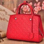 LV M50668-01 歐美時尚新款紅色全皮壓花女士手提斜背包