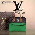 LV M51026-2 專櫃最新款女士CITY STEAMER黑色拼綠色全皮手提單肩包