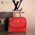 LV M51026-3 專櫃最新款女士CITY STEAMER紅色全皮手提單肩包