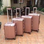 RIMOWA 1520 德國日默瓦潮流奢華機場必備凹造型利器玫瑰金鋁製拉桿箱行李箱