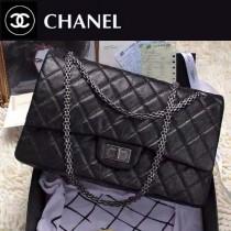 CHANEL 0205 歐美時尚經典新款進口大象紋黑色復古CF包