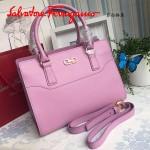 Ferragamo 21F317-4 專櫃最新款Gancino粉色原版皮手提肩背包托特包