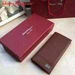 Ferragamo KD-607010 專櫃最新原版進口深棕色小牛皮男款西裝夾