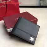 Ferragamo KD-669825 專櫃最新原版進口黑色小牛皮男款橫版錢包