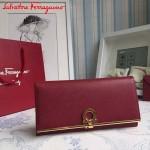 Ferragamo AK-224633-05 歐美時尚爆款原版進口牛皮大號法式錢包