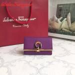 Ferragamo 224627-04 專櫃最新進口原版牛皮三折鑰匙包