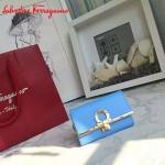 Ferragamo 224627-01 專櫃最新進口原版牛皮三折鑰匙包