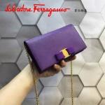Ferragamo 22B875-3 時尚潮流新款紫色原版皮單肩斜挎包晚宴包