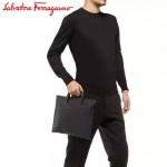 Ferragamo 249761 專櫃最新潮品原版進口珍珠魚紋牛皮文件袋