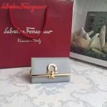 Ferragamo 224627-03 專櫃最新進口原版牛皮三折鑰匙包