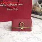 Ferragamo 224627-05 專櫃最新進口原版牛皮三折鑰匙包