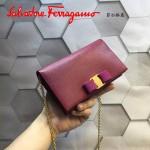 Ferragamo 22B875-12 時尚潮流新款紅色原版皮單肩斜挎包晚宴包