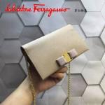 Ferragamo 22B875-2 時尚潮流新款杏色原版皮單肩斜挎包晚宴包