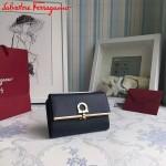 Ferragamo KB-22C115-01 歐美時尚新款原版進口牛皮中號法式錢包