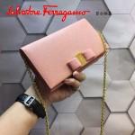 Ferragamo 22B875-10 時尚潮流新款裸粉色原版皮單肩斜挎包晚宴包
