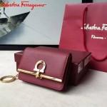 Ferragamo SF-22C110-03 專櫃最新原版牛皮多功能法式鑰匙錢包