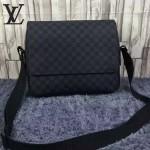 LV N41149-01 潮流時尚新款黑格男士斜背包