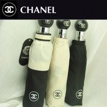 CHANEL 高貴時尚今夏暢銷款黑白拼色全自動防紫外線折疊遮陽傘