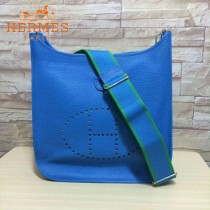 HERMES-00045-13 人氣熱銷伊芙寧系列寶藍色原版TOGO皮大小號單肩斜挎包