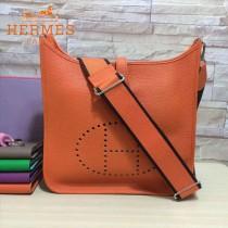 HERMES-00045-7 人氣熱銷伊芙寧系列橙色原版TOGO皮大小號單肩斜挎包