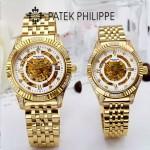 PATEK PHILIPPE-0138 時尚新款進口瑞士8N24全自動機械機芯情侶款