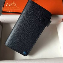 HERMES-00046-4 時尚新款黑色原版epsom牛皮搭扣多卡位卡包卡片夾