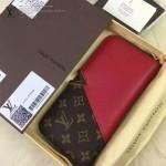 LV M56174 潮流時尚新款原版老花配紅色皮錢包