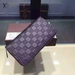 LV N60015-01 時尚經典ZIPPY系列原版皮壓格紋男士錢夾