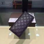 LV N63010-01 時尚經典BRAZZA系列原版皮壓格紋男士錢夾