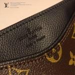 LV M41638-3 時尚新款女士EVA老花配黑色皮單肩斜挎包晚宴包手拿包