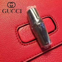 GUCCI 392013-04 專櫃時尚新款全智賢同款中號全皮提斜背包