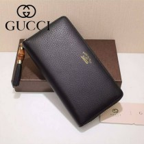 GUCCI 307984-03 歐美時尚新款全皮長款拉鏈錢包