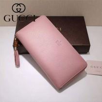 GUCCI 307984-05 古馳時尚經典新款印字款全皮長款拉鏈錢包