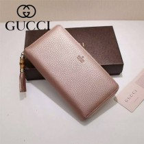 GUCCI 307984-06 古馳時尚經典新款印字款全皮長款拉鏈錢包