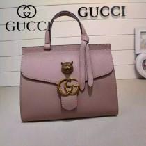 GUCCI 409155-6 OL白領必備時尚女士粉色全皮手提袋商務包