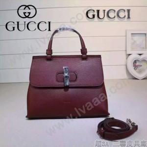 GUCCI 370831-03 專櫃時尚新款全智賢同款小號全皮提斜背包