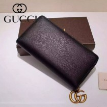 GUCCI 409392-3 甜美淑女風新款紫色全皮長款拉鏈錢包