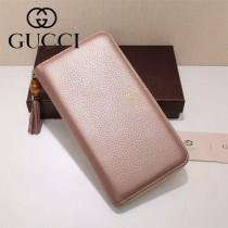 GUCCI 307984-01 歐美時尚新款全皮長款拉鏈錢包