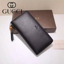 GUCCI 307984-07 古馳時尚經典新款印字款全皮長款拉鏈錢包