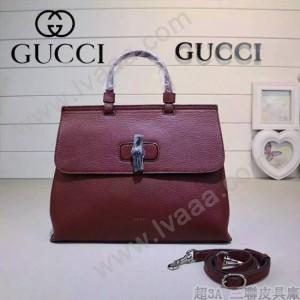 GUCCI 392013-02 專櫃時尚新款全智賢同款中號全皮提斜背包