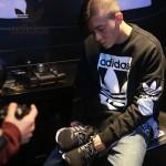 Adidas-25 阿迪達斯陳冠希代言NMD Runner Primeknit爆米花黑色運動鞋休閒鞋