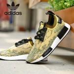 Adidas-24 阿迪達斯時尚新款情侶款NMD金色漸變運動鞋休閒鞋