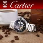 CARTIER-302-06 卡地亞新款礦物質超強鏡面機械機芯男士腕表