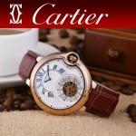 CARTIER-302-02 卡地亞新款礦物質超強鏡面機械機芯男士腕表
